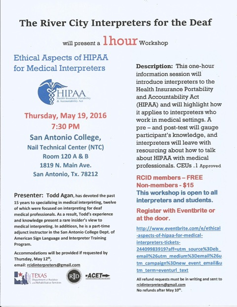 RCID HIPAA Workshop