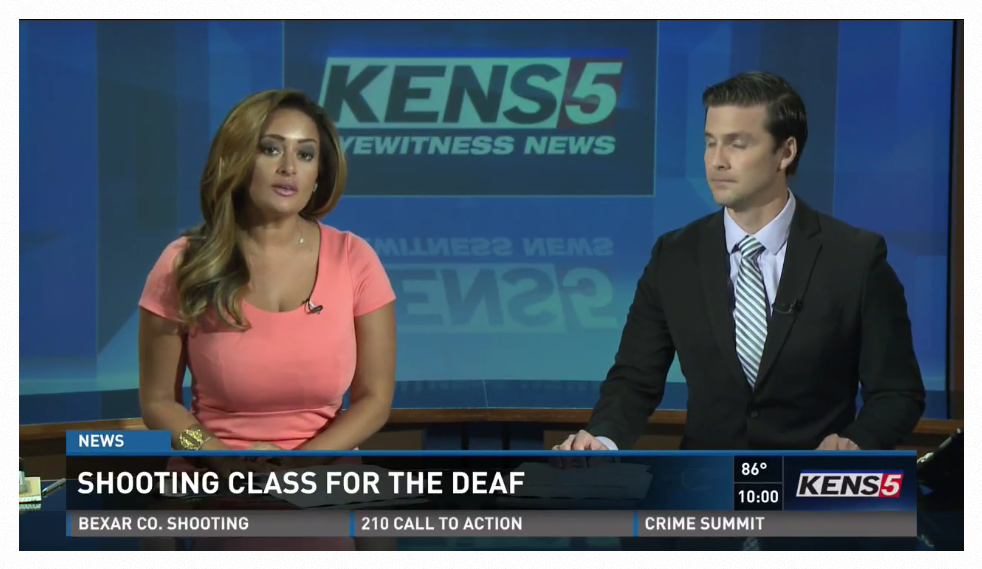KENS, the CBS Affiliate in San Antonio, Covered the New Concealed Carry Classes for the Deaf